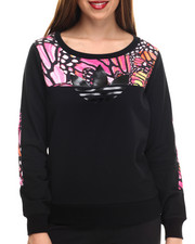 Adidas - Butterfly French Terry Fleece Crew Sweatshirt