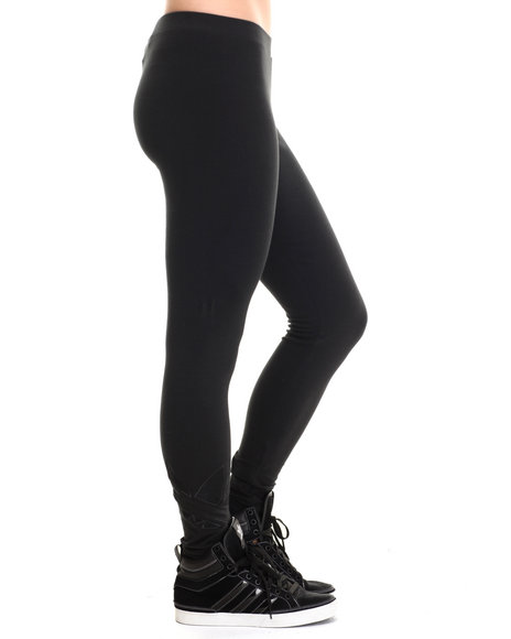 Adidas - Women Black Trefoiling Leggings - $28.99