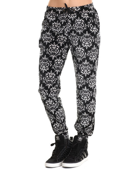 Leggsington - Women Black Beth Printed Velvet Jegging