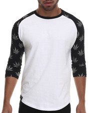 Men - All over Print Plant life Raglan tee
