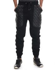 Buyers Picks - Quilted Faux Leather Knit Pants