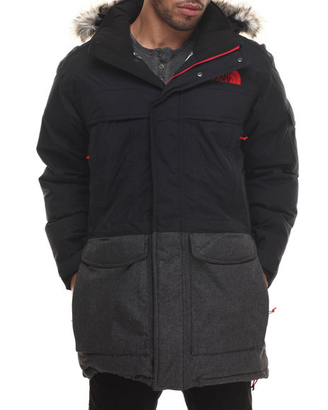 The North Face - Men Black,Grey Mcmurdo Parka