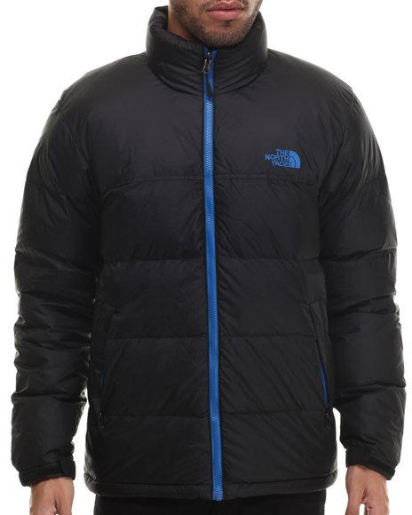 The North Face - Men Black,Blue Nuptse Jacket