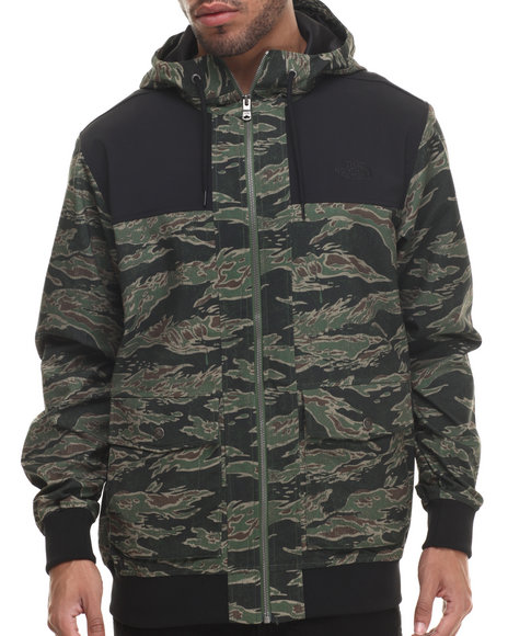 The North Face - Men Camo,Green Sierra Park Hoodie