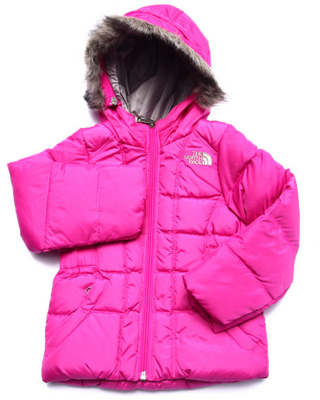 The North Face - Girls Pink Gotham Jacket (2T-4T)