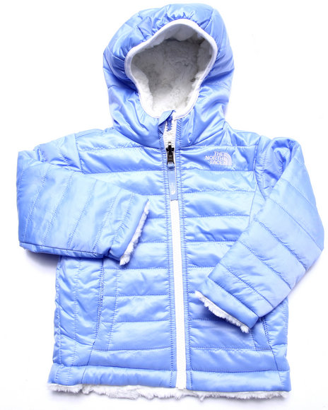 The North Face - Girls Blue Reversible Mossbud Swirl Jacket (2T-4T)