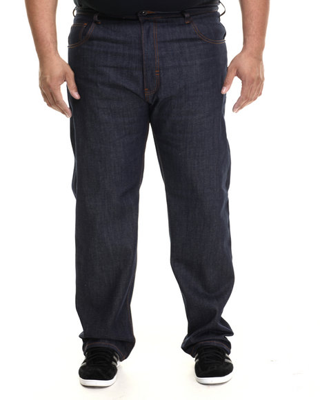 Rocawear - Men Raw Wash R Script Flap Jeans (B&T)