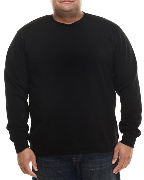 Buyers Picks - Men Black Classic Fleece Crewneck Sweatshirt (B&T) - $18.99