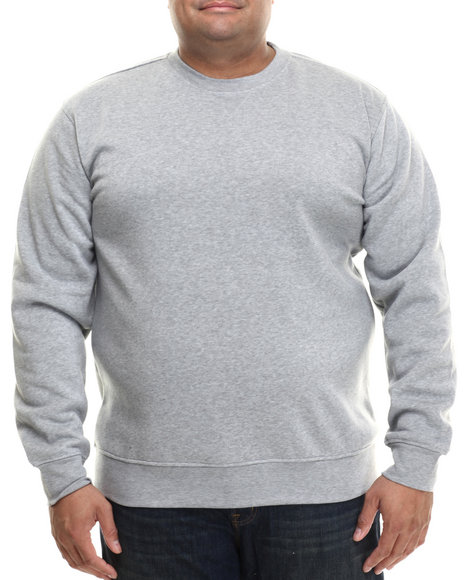 Buyers Picks - Men Grey Classic Fleece Crewneck Sweatshirt (B&T)