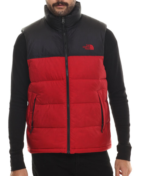 The North Face - Men Red Nuptse Vest