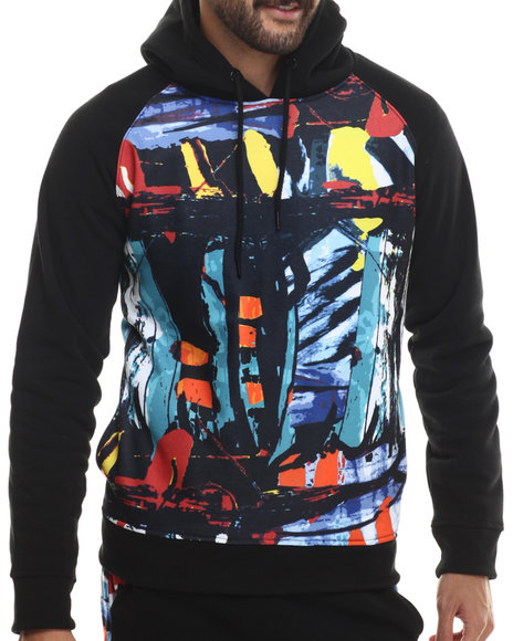Buyers Picks - Men Multi Trilled Abstract Art Sublimated Hoodie