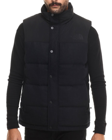 The North Face - Men Black Tweed Nuptse Heights Vest