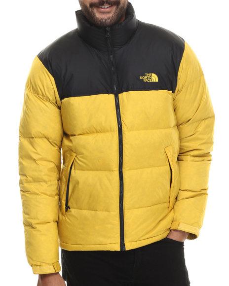 The North Face - Men Yellow Nuptse Jacket