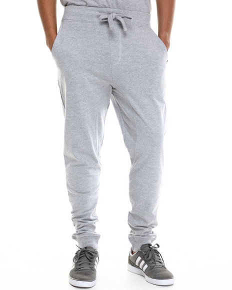 Akademiks - Men Grey Flatland French Terry Jogger Pants - $26.99