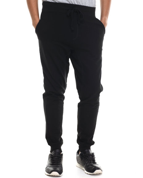 Akademiks - Men Black Flatland French Terry Jogger Pants - $27.99
