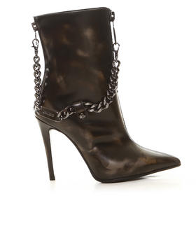 -FEATURES- - Mina Burnished Camo Boot with Chain