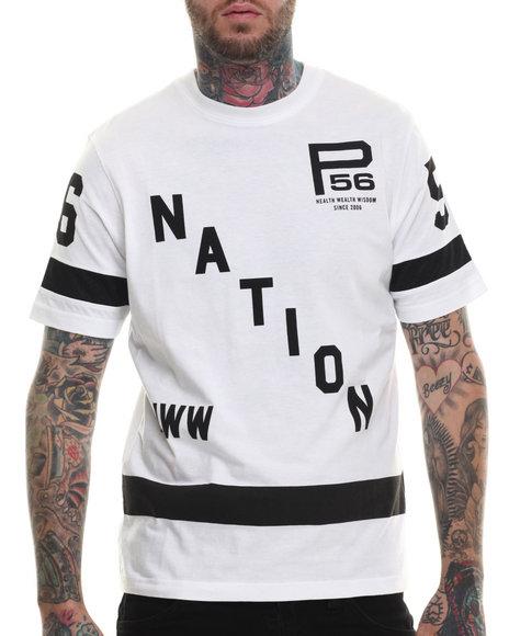 Parish - Men White Graphic S/S T-Shirt