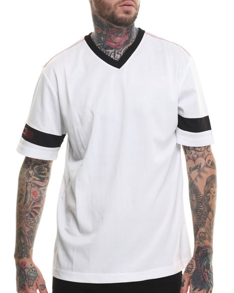 Rocawear - Men White S/S Giant V-Neck Tee - $30.99