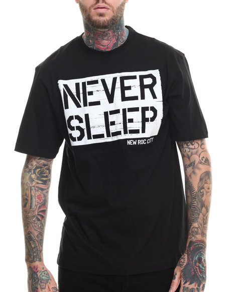 Rocawear - Men Black S/S Never Sleep Tee - $21.99