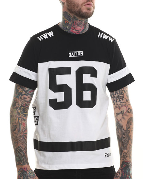 Parish - Men Black S/S Football T-Shirt - $19.99