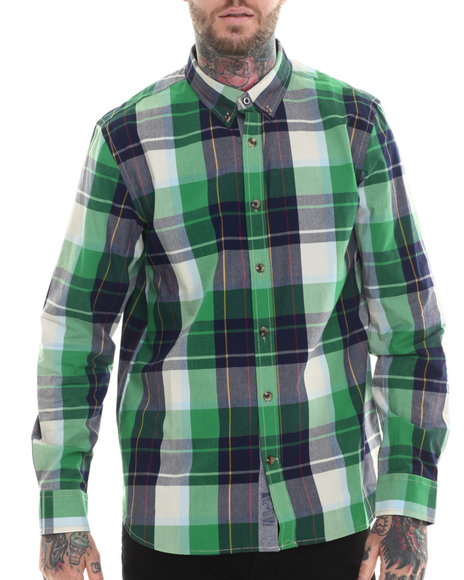 Rocawear - Men Green Bunyan L/S Button-Down