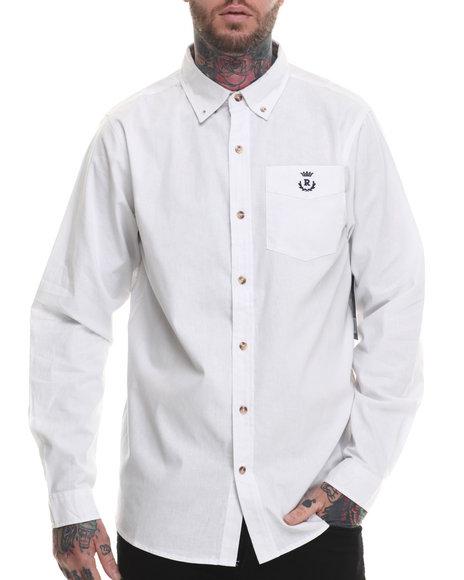 Rocawear - Men White Utility L/S Button-Down
