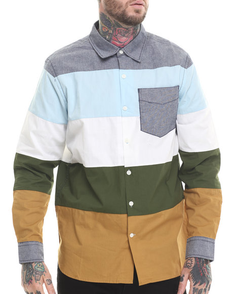 Rocawear - Men Multi Hot Boys L/S Button-Down