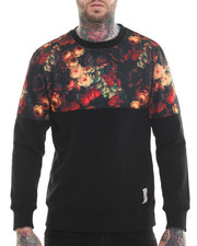Men - Floral Print Sweatshirt