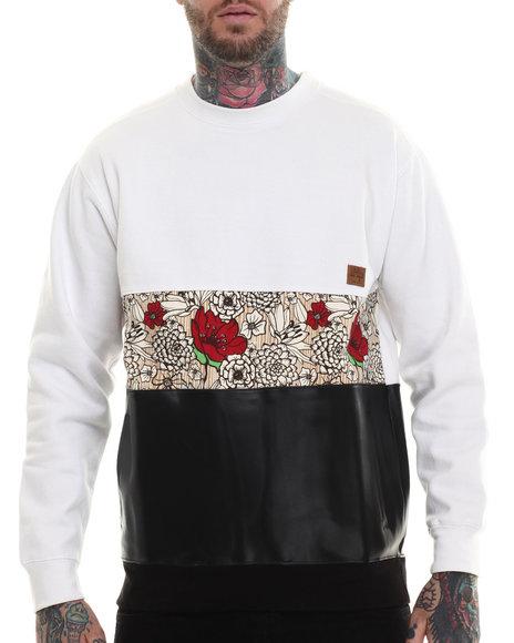 Buyers Picks - Men White Paradise Crewneck Sweatshirt