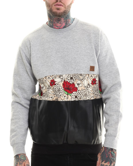 Buyers Picks - Men Grey Paradise Crewneck Sweatshirt