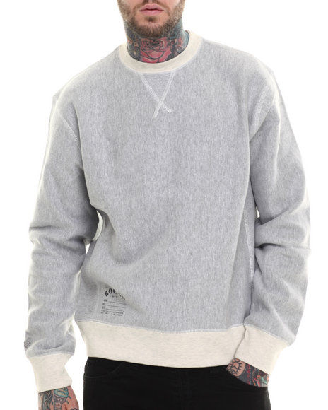 Rocawear - Men Grey Fulton Crewneck Fleece Sweatshirt