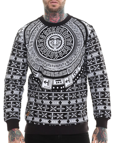 Buyers Picks - Men Black Lost City Print Sweatshirt