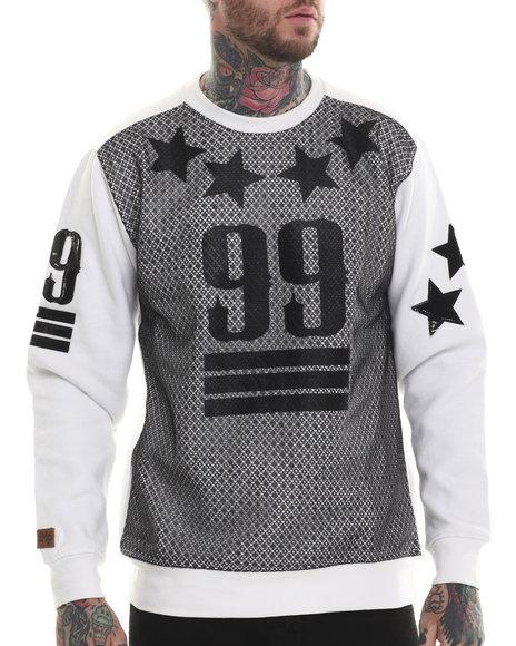 Buyers Picks - Men White Mesh Front 99 Sweatshirt