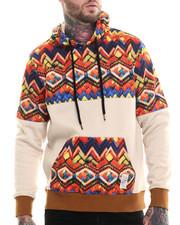Men - Fleece Printed Pullover Hoodie