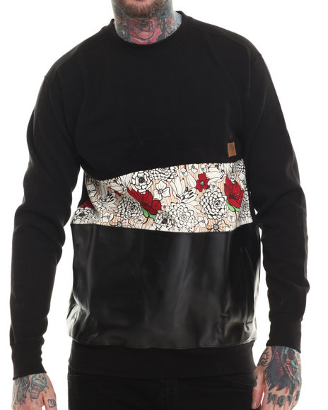 Buyers Picks - Men Black Paradise Crewneck Sweatshirt