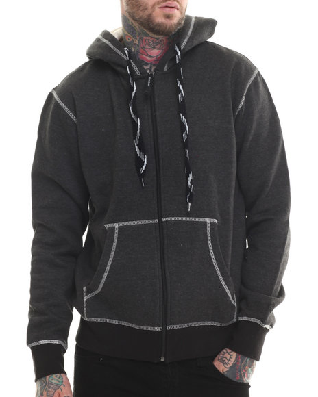 Rocawear - Men Black Empire Blvd Full Zip Fleece Hoodie