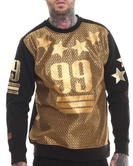 Buyers Picks - Men Black Mesh Front 99 Sweatshirt