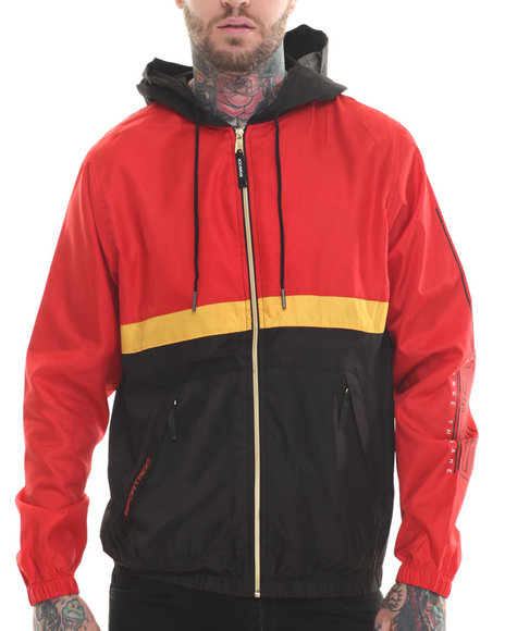 Rocawear - Men Red Velocity Zip Jacket