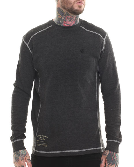Rocawear - Men Black Thermal L/S Shirt