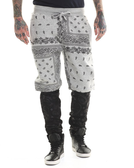 Buyers Picks - Men Grey Bandana Detachable Jogger Pants