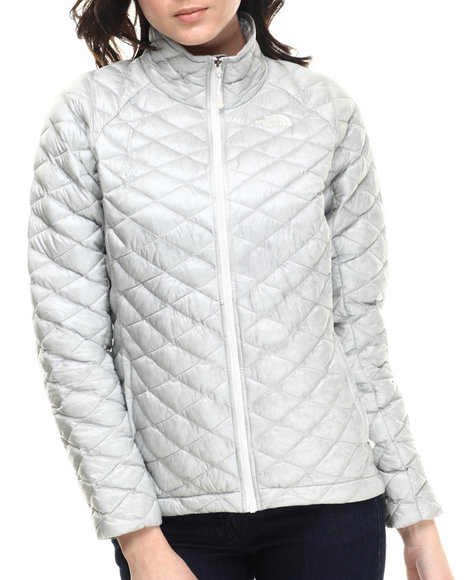 The North Face - Women Grey Thermoball Full Zip Jacket