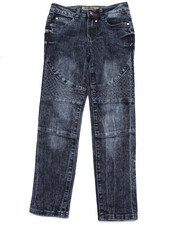 Bottoms - Quilted Motorcross Jeans (7-16)