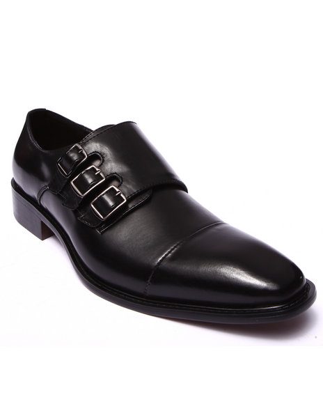 Ur-ID 200625 Buyers Picks - Men Black Westby Buckle Shoe by Buyers Picks