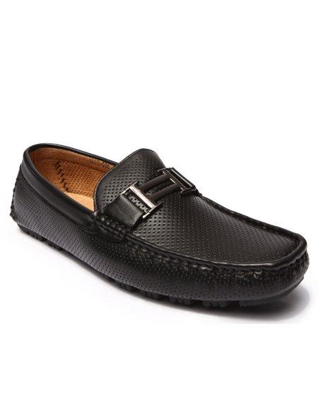 Ur-ID 200631 Buyers Picks - Men Black Perf Faux Leather Loafer