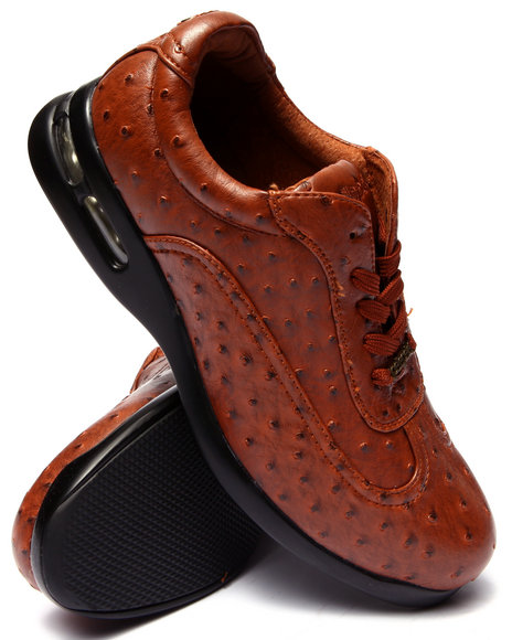 Pelle Pelle - Men Tan Pelle Faux Ostridge Embossed Shoe