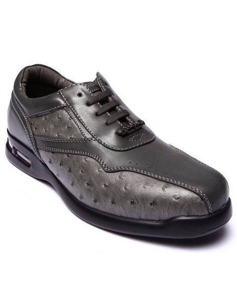 Pelle Pelle - Men Grey Pelle Faux Croc Embosed Shoe