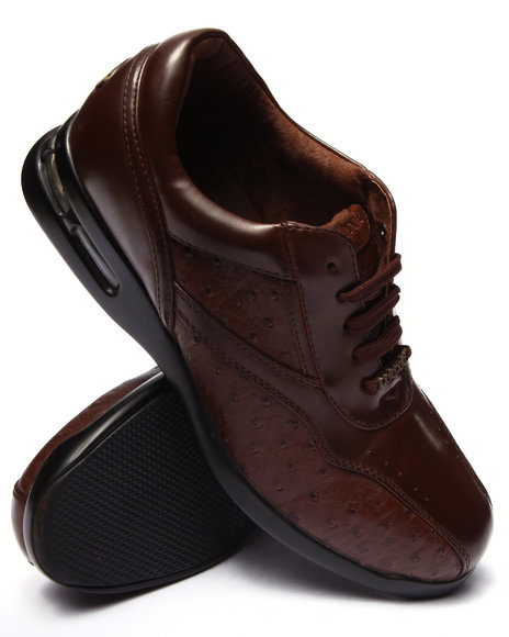 Pelle Pelle - Men Brown Pelle Faux Croc Embosed Shoe