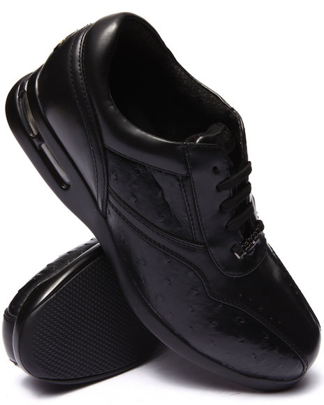 Pelle Pelle - Men Black Pelle Faux Croc Embosed Shoe