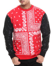 Men - Bandana Paisley fleece sweashirt