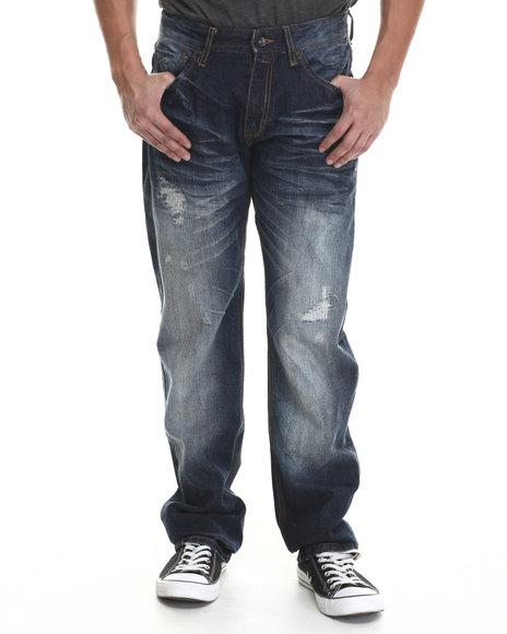 Rocawear - Men Dark Indigo Amends Straight Fit Jeans